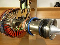 微型涡轮风扇发动机模型