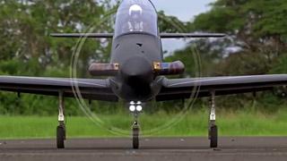 电影风格的涡喷模型飞机表演视频