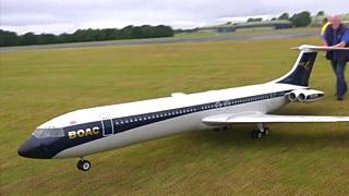 VC10涡喷模型客机飞行表演
