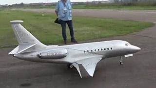 [JetPower2018]Falcon 2000S涡喷模型飞机飞行表演