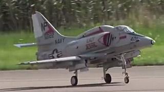 [JetPower2018]A4 Skyhawk涡喷模型飞机飞行表演