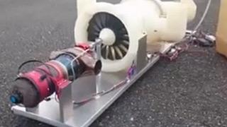 Kingtech微型涡扇发动机测试