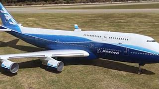 波音747涡喷模型飞机测试