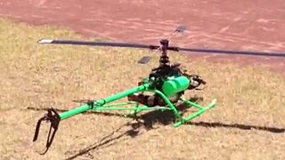 800涡轴模型直升机飞行测试