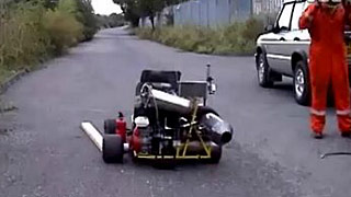 涡喷发动机卡丁车道路测试
